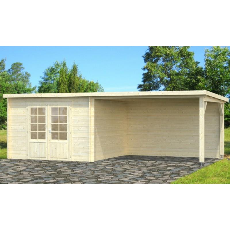 ella 8 7 10m2 vente de abris en bois sur internet. Black Bedroom Furniture Sets. Home Design Ideas